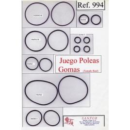 JUEGO 14 POLEAS MANUALIDADES R-994